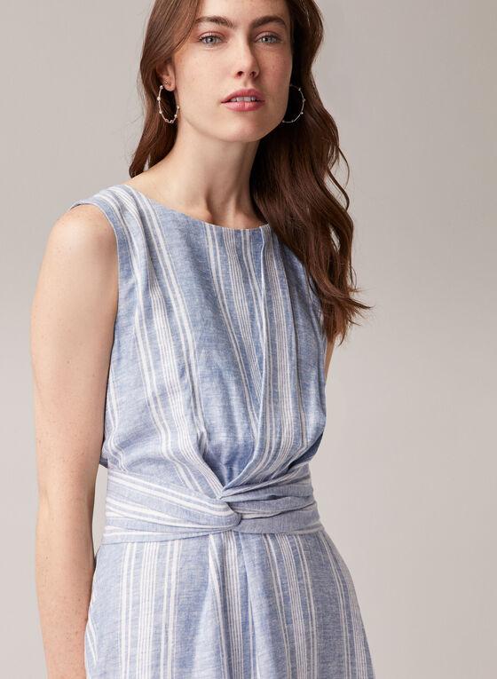 Maggy London - Sleeveless Linen Blend Dress, Blue