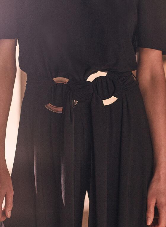 Off-the-Shoulder Jumpsuit, Black
