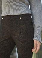 Pantalon Kayla à motif cachemire, Noir