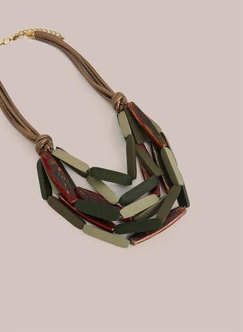 Collier multirang à billes allongées, Vert,  automne hiver 2020, collier, bijou, accessoire