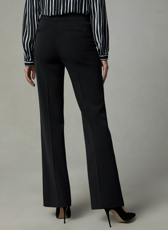 Slit Straight Leg Pants, Black, hi-res