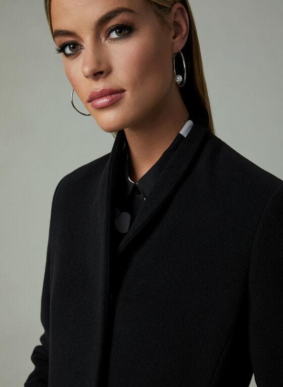 Mallia - Long Cashmere Blend Coat, Black, hi-res