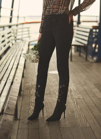Joseph Ribkoff - Slim Leg Jeans, Black,  Joseph Ribkoff, online exclusive, jeans, denim, pants, slim leg, eyelets, 5 pockets, fall winter 2021