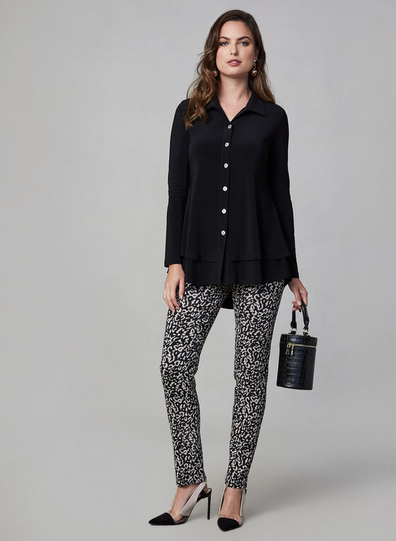 Joseph Ribkoff - Button Front Blouse, Black, hi-res