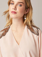 Embellished Blouson Top, Red