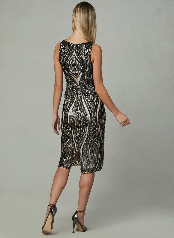 Adrianna Papell - Sleeveless Sequin Dress, Black, hi-res
