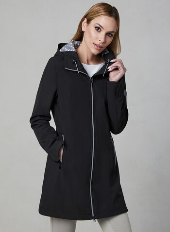 Chillax - Hooded Raincoat, Black, hi-res,  Spring 2019, raincoat, Chillax