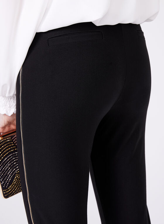 Frank Lyman - Zipper Trim Slim Leg Pants, Black, hi-res
