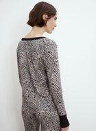 Ensemble pyjama à motif léopard, Noir