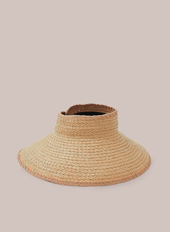 Hat other Hats, Brown,  straw, visor, hat, straw hat, spring 2020, summer 2020