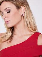 Cachet - Robe crêpe sirène asymétrique drapée, Rouge, hi-res