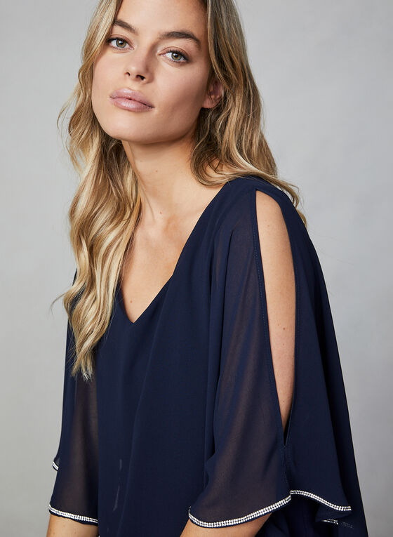 Frank Lyman - Chiffon Poncho Dress, Blue