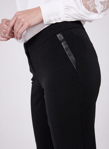 Straight Leg Lauren Petite Pants, Black, hi-res