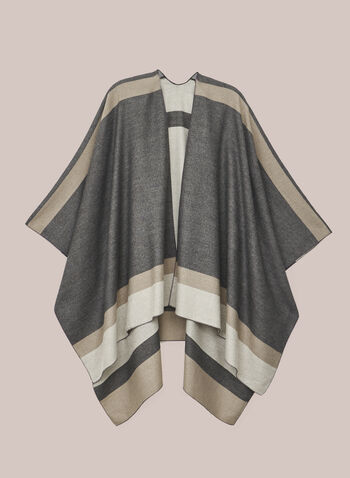 Colour Block Shawl, Grey,  shawl, colour clock, fall winter 2020