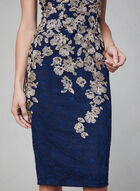 BA Nites - Floral Lace Midi Dress, Blue, hi-res