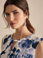 Floral Print Sheath Dress, Blue