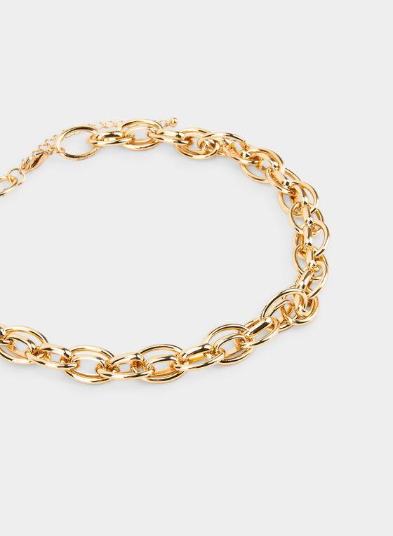 Short Interlink Chain Necklace  , Gold, hi-res
