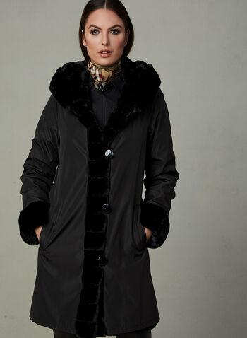 Nuage - Reversible Faux Fur Coat, Black,