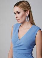 Adrianna Papell - Robe sans manches en crêpe, Bleu, hi-res