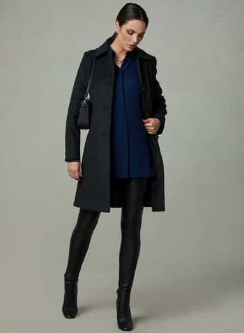 Anne Klein - Cashmere Blend Coat, Grey, hi-res