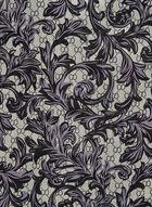 Monochromatic Paisley Print Scarf, Black, hi-res