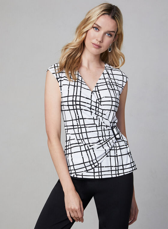 Buckle Detail Top, White