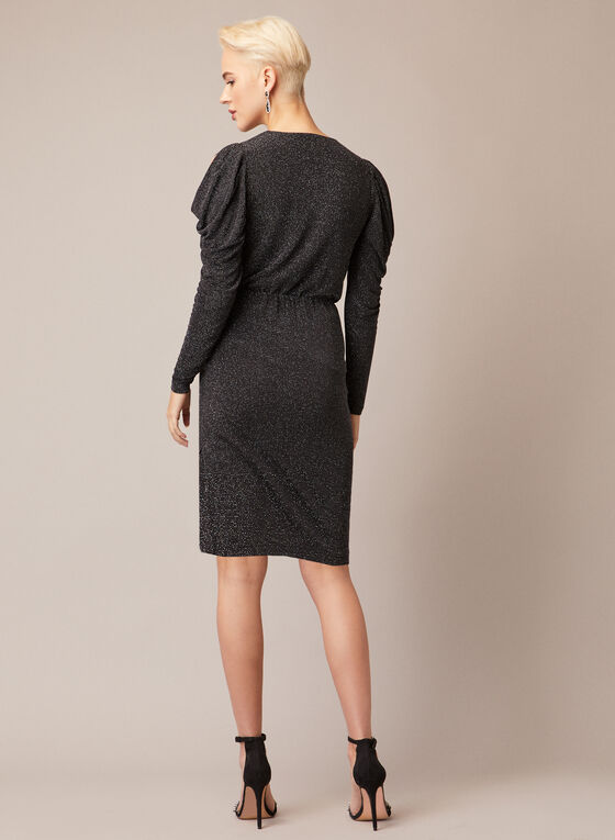 Robe scintillante à épaules dénudées, Noir