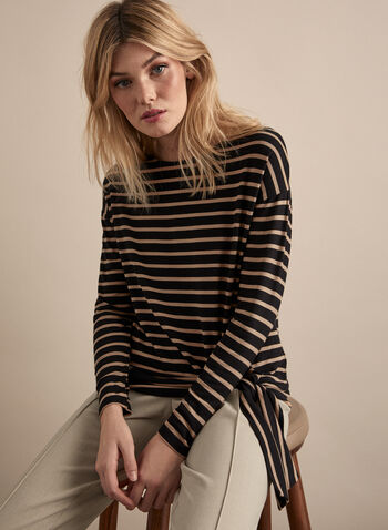 Long Sleeve Striped Top, Black,  basic top, top, striped top, stripes, print, print top, long sleeves, fall 2019, winter 2019
