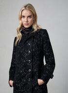Long Tapestry Coat, Black