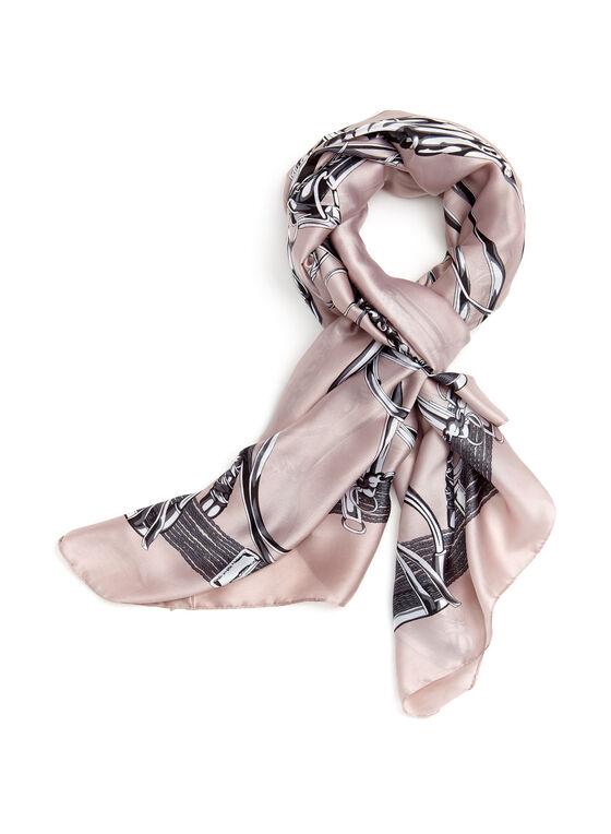 Harness Print Scarf, Pink, hi-res