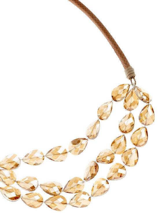 Collier à perles en goutte d'eau, Rose, hi-res