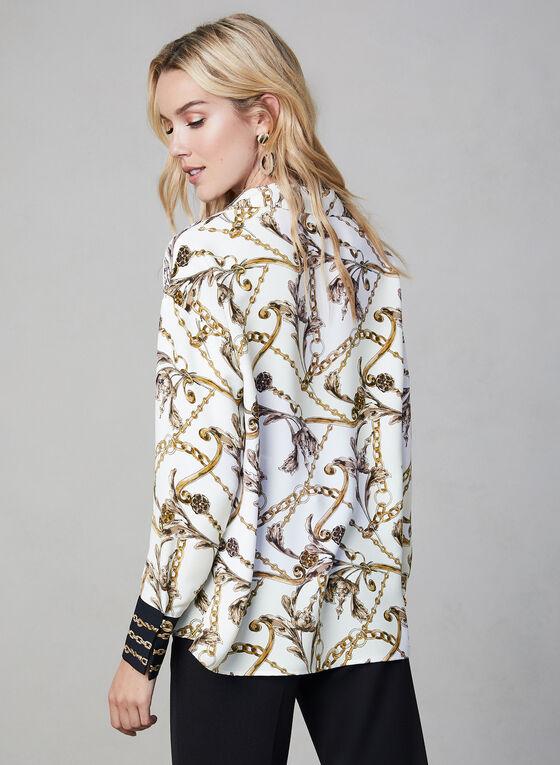 Joseph Ribkoff – Chain Print Blouse, White