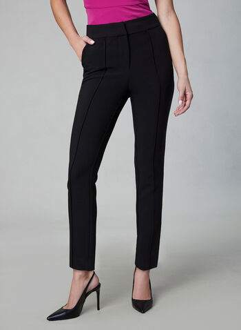 Vince Camuto - Slim Leg Pants, Black, hi-res,  Vince Camuto, pants, trousers, slim leg, fall 2019, winter 2019