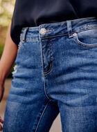 Ripped Slim Leg Jeans, Blue