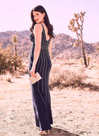 BA Nites - Beaded Jersey Gown, Blue, hi-res