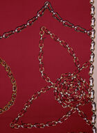 Chainlink Print Scarf, Red, hi-res
