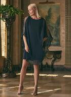 BA Nites - Embellished Poncho Dress, Blue
