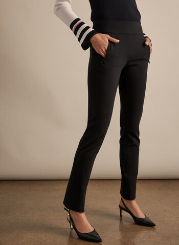 Madison Slim Leg Pants , Black,  pants, madison, pull-on, slim legs, high-rise, pull-on waist, vertical pockets, fall 2019, winter 2019