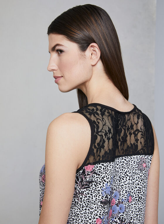 Hamilton - Leopard Print Nightgown, Black