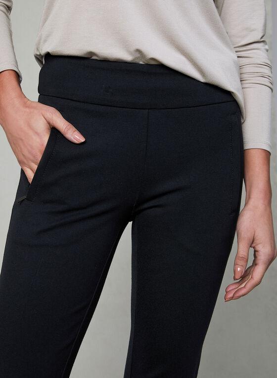 Pantalon Madison à poches zippées, Noir