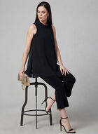 Joseph Ribkoff - Sleeveless Chiffon Tunic, Black, hi-res