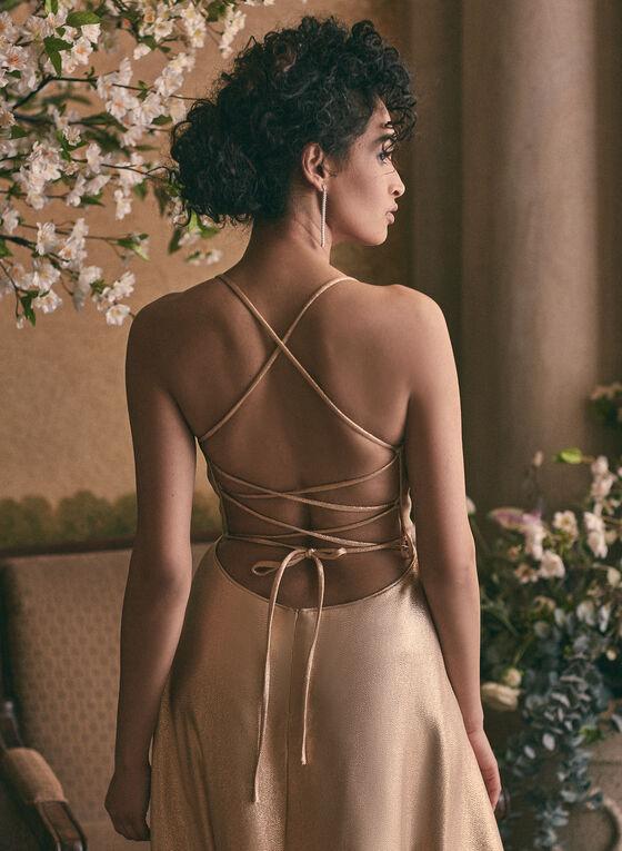 Cachet - Metallic Glitter Dress, Gold