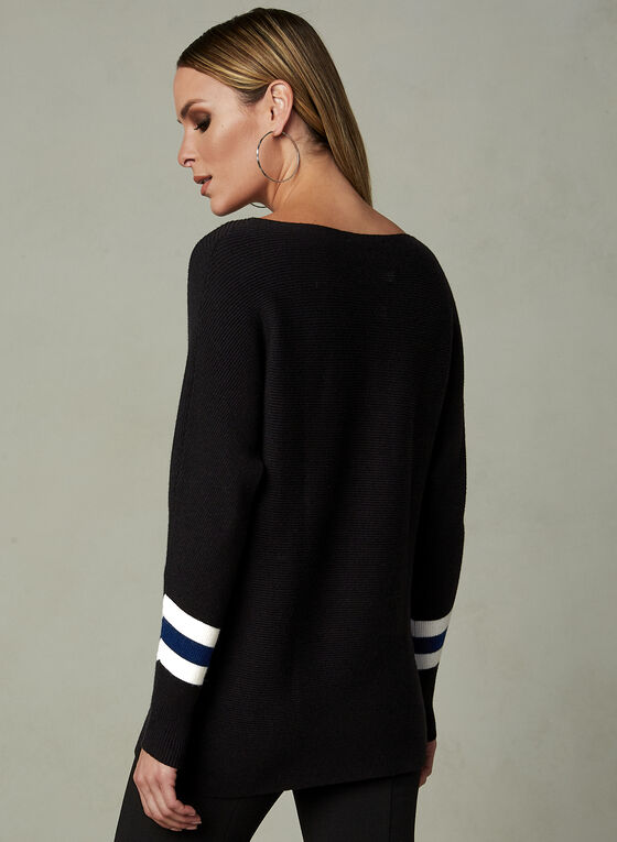 Elena Wang - Long Sleeve Sweater, Black, hi-res