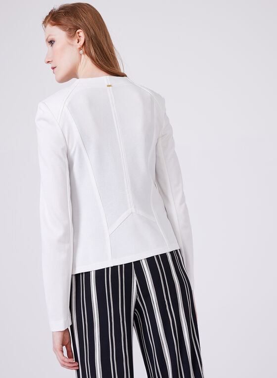 Vex – Long Sleeve Tailored Look Jersey Blazer, Off White, hi-res
