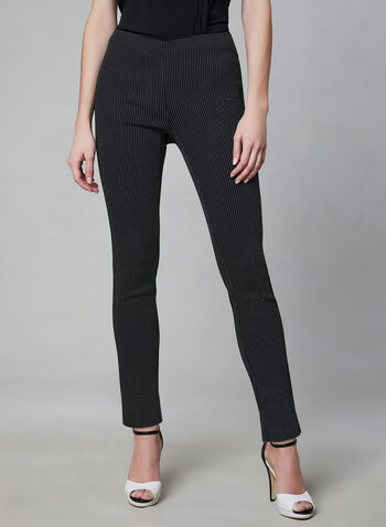 Slim Leg Pull-On Pants, Black, hi-res