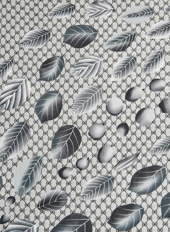 Foulard oblong à détails pétales, Gris, hi-res,  foulard, oblong, abstrait, pétales, automne hiver 2019