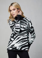 Turtleneck Knit Sweater , Black