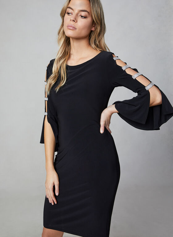 Frank Lyman - Bell Sleeve Cocktail Dress, Black