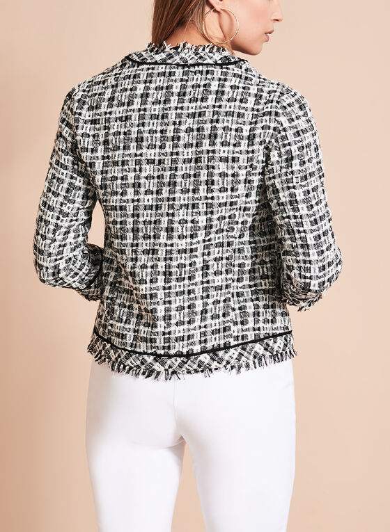 Conrad C - Contrast Tweed Boucle Jacket, Black, hi-res