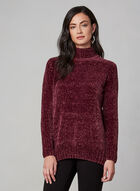 Chenille Turtleneck Sweater, Red, hi-res